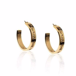 19-8438G TRAVEL THE WORLD MEDIUM HOOPS 24K GOLD PLATED