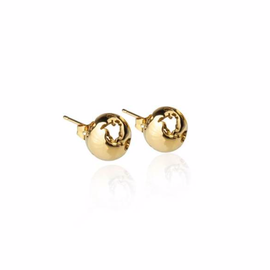 19-8408G WORLD SMALL EARRINGS 24K GOLD PLATED