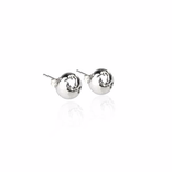 19-8408P WORLD SMALL EARRINGS RHODIUM PLATED