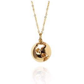 19-8406G GLOBE NECKLACE 24K GOLD PLATED