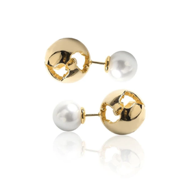 19-8440G  GLOBE PEARL EAR CUFF GOLD PLATED 24K