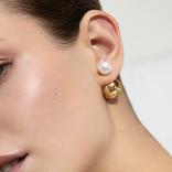 19-8440G  GLOBE PEARL EAR CUFF GOLD PLATED 24K