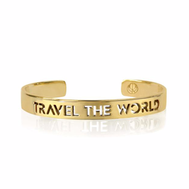 19-8434G TRAVEL THE WORLD BANGLE  24K GOLD PLATED