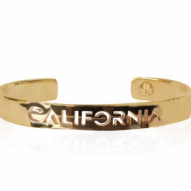 19-8430G CITY BANGLE CALIFORNIA 24K GOLD PLATED