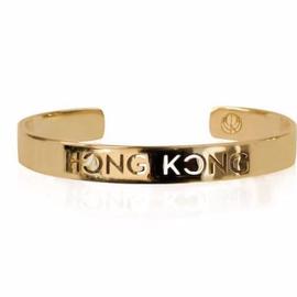 19-8429G CITY BANGLE HONG KONG 24K GOLD PLATED