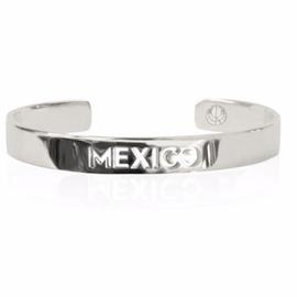 19-8423P CITY BANGLE MEXICO RHODIUM PLATED