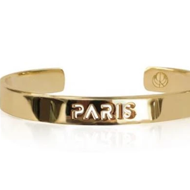19-8421G CITY BANGLE PARIS 24K GOLD PLATED
