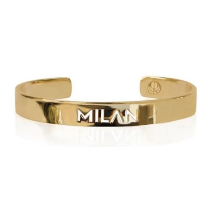 19-8420G CITY BANGLE MILAN 24K GOLD PLATED