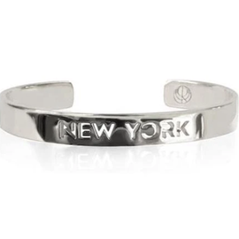 19-8419P CITY BANGLE NEW YORK RHODIUM PLATED