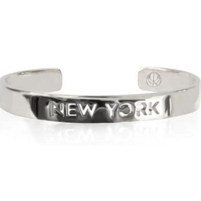 19-8419P CITY BANGLE NEW YORK RHODIUM PLATED