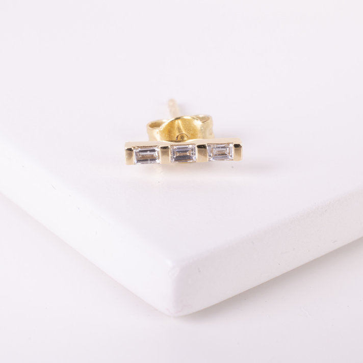 regalo Andante-stones 14k oro bead clip topes circonita rosa #1462