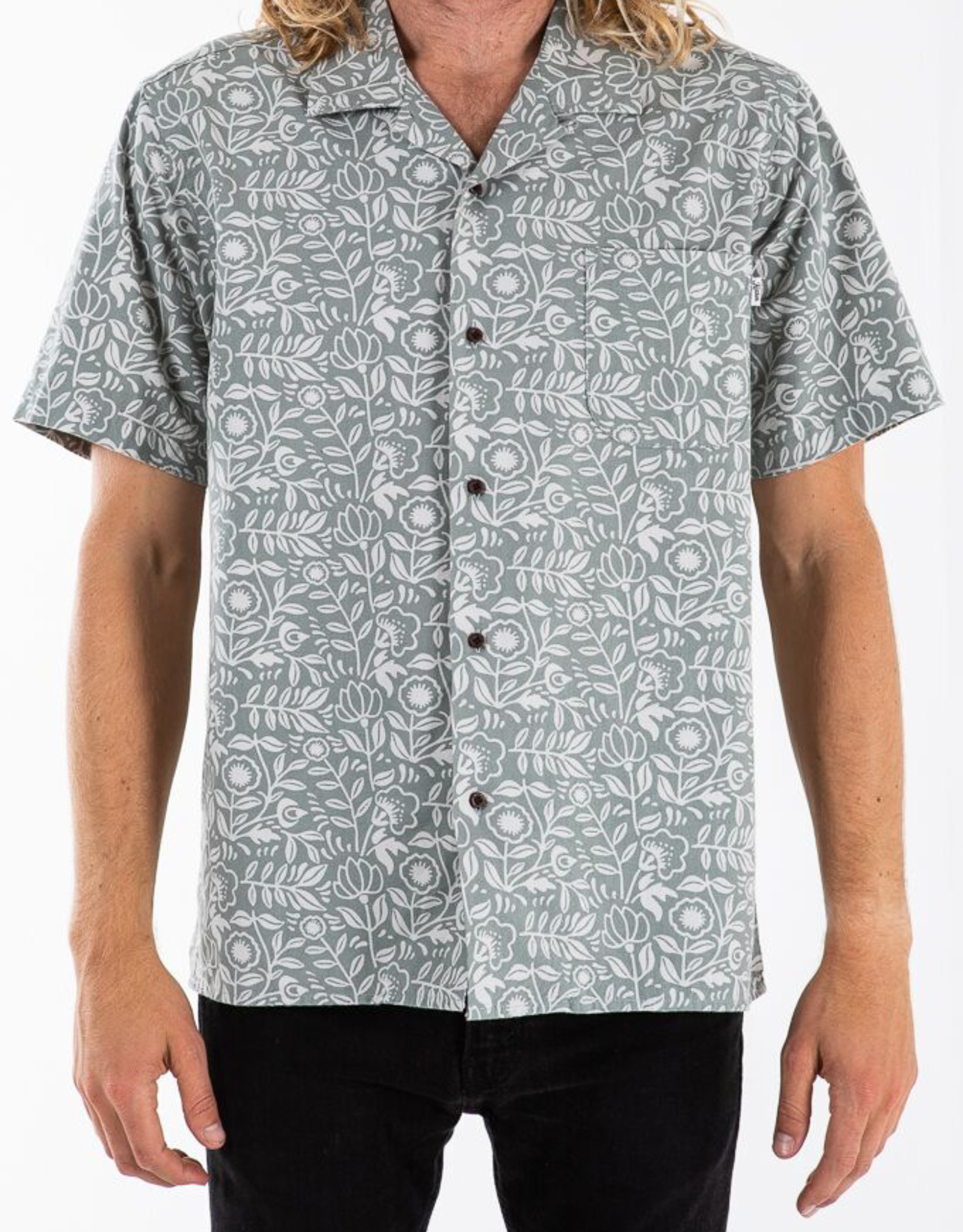 Katin USA Leary Aloha Shirt-Grey Green