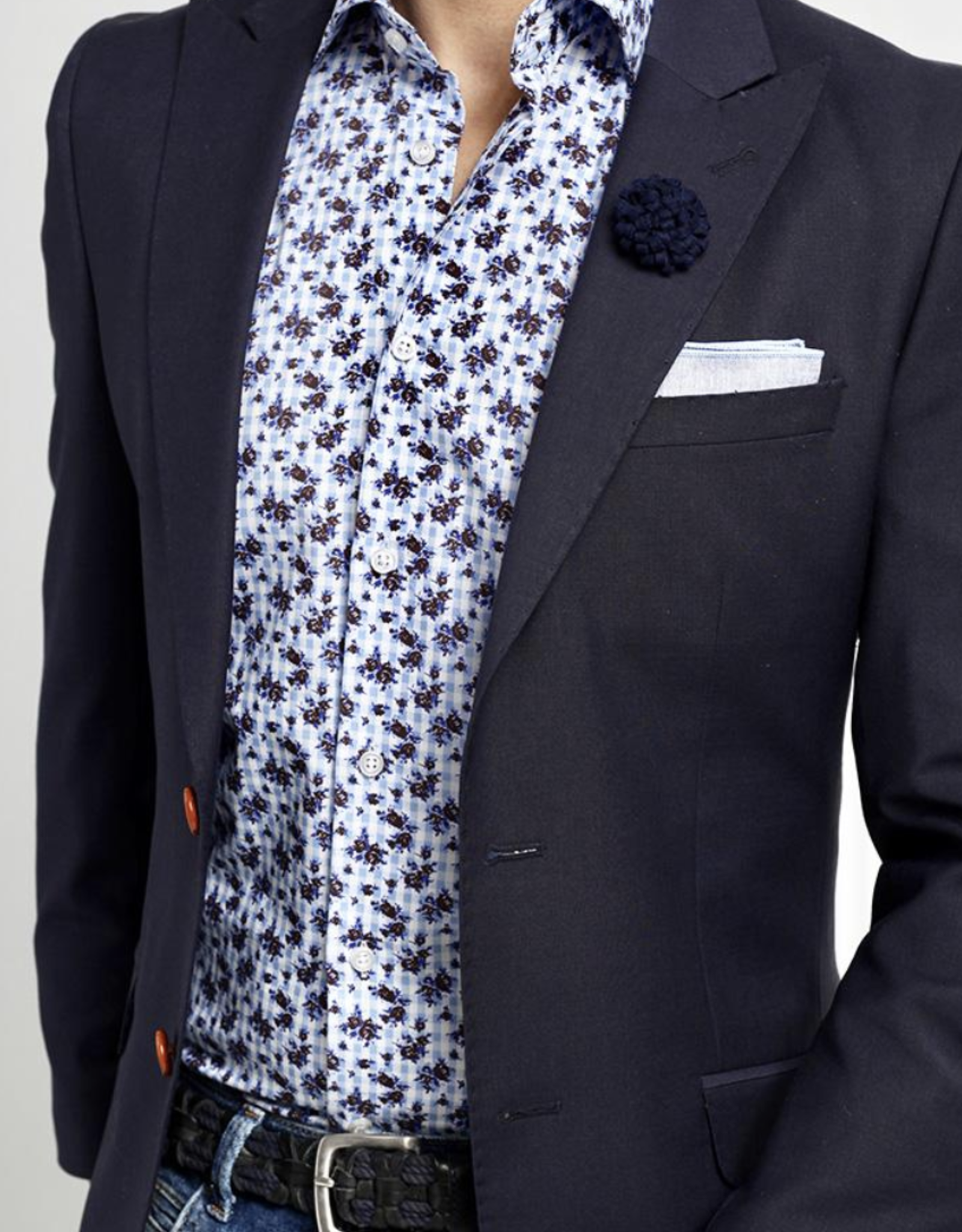 Kurt River Blue Rose Spread Shirt