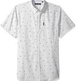 Ben Sherman SS Slub Bird Print Shirt Grey