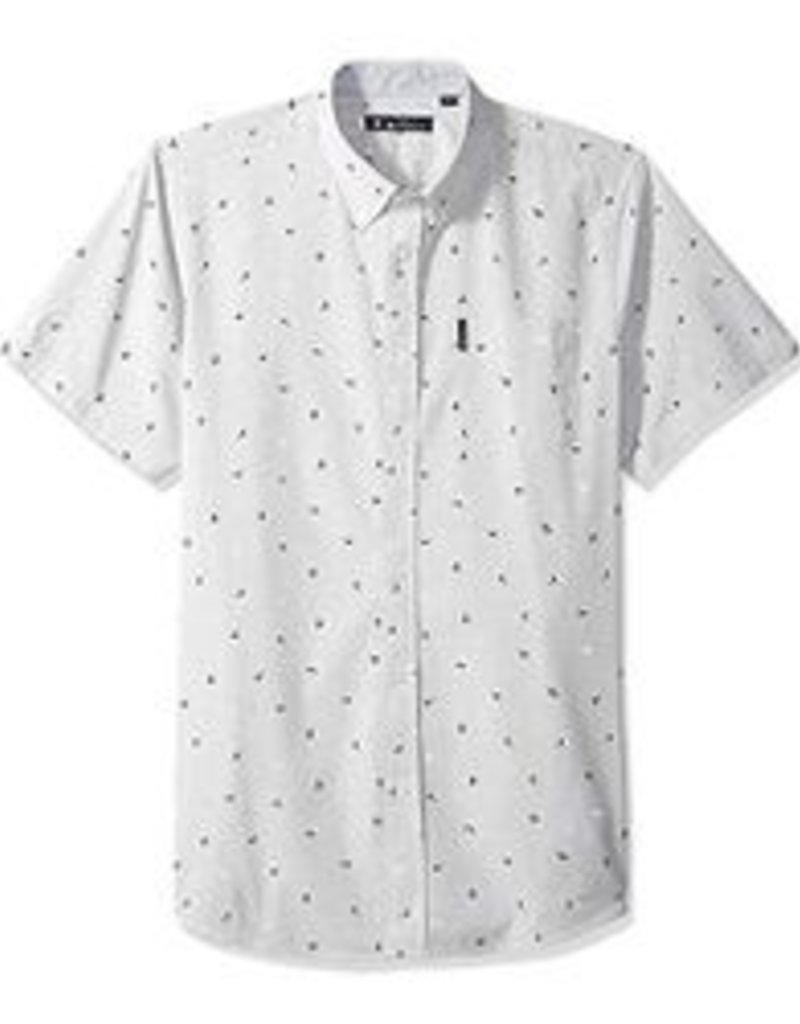 Ben Sherman SS Slub Bird Print Shirt Grey