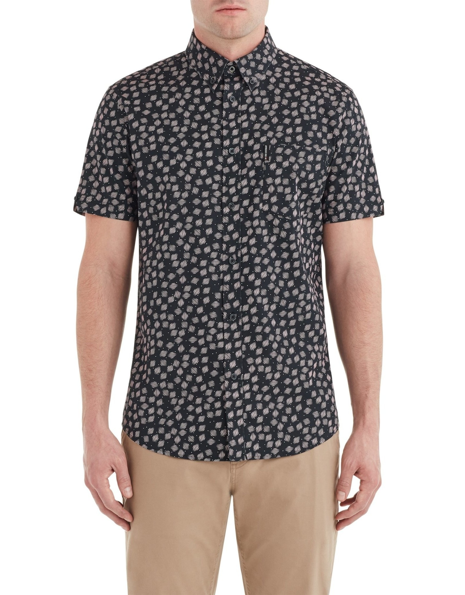Ben Sherman Scratch Black Shirt