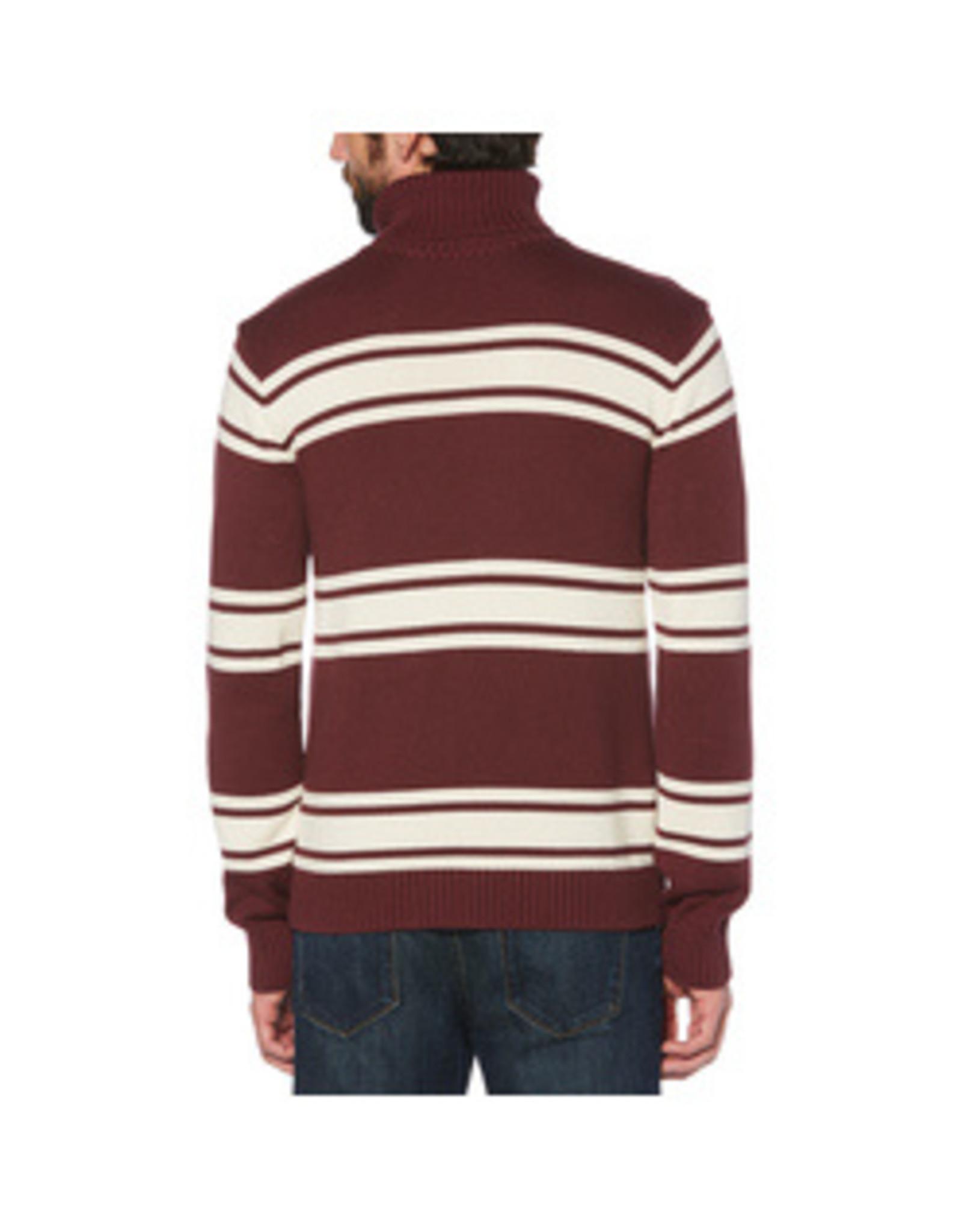 Original Penguin Maroon Stripe Sweater