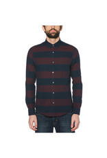 Original Penguin Maroon Stripe Button Shirt Down
