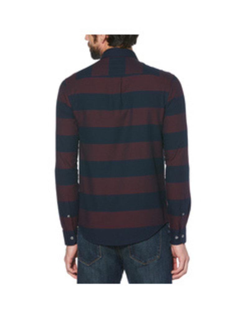 Original Penguin Maroon Stripe Button Shirt Down