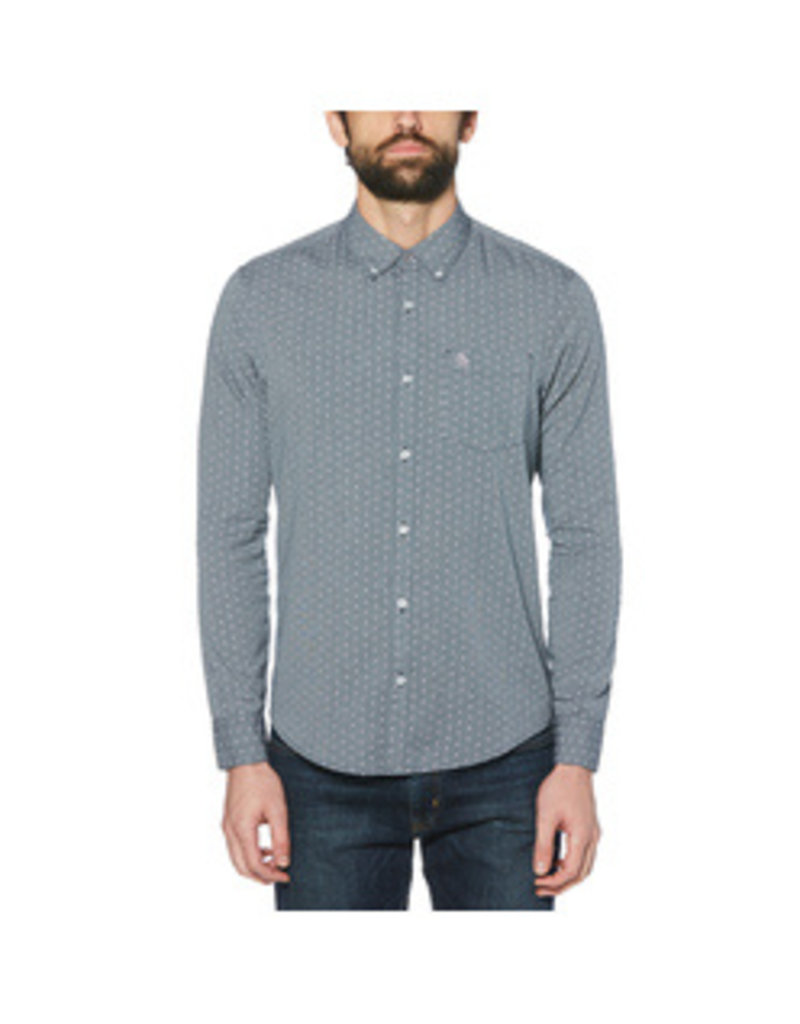 Original Penguin Grey polka dot shirt