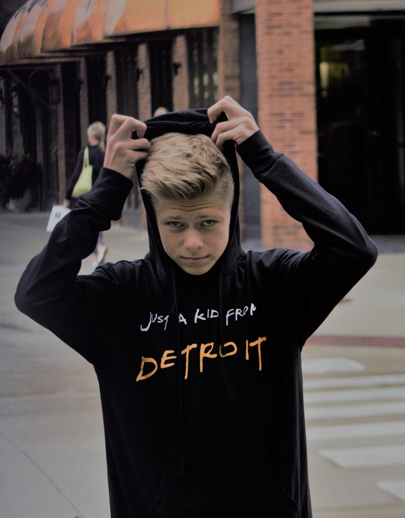 Untied Just A Kid From Detroit Youth Sweatshirt