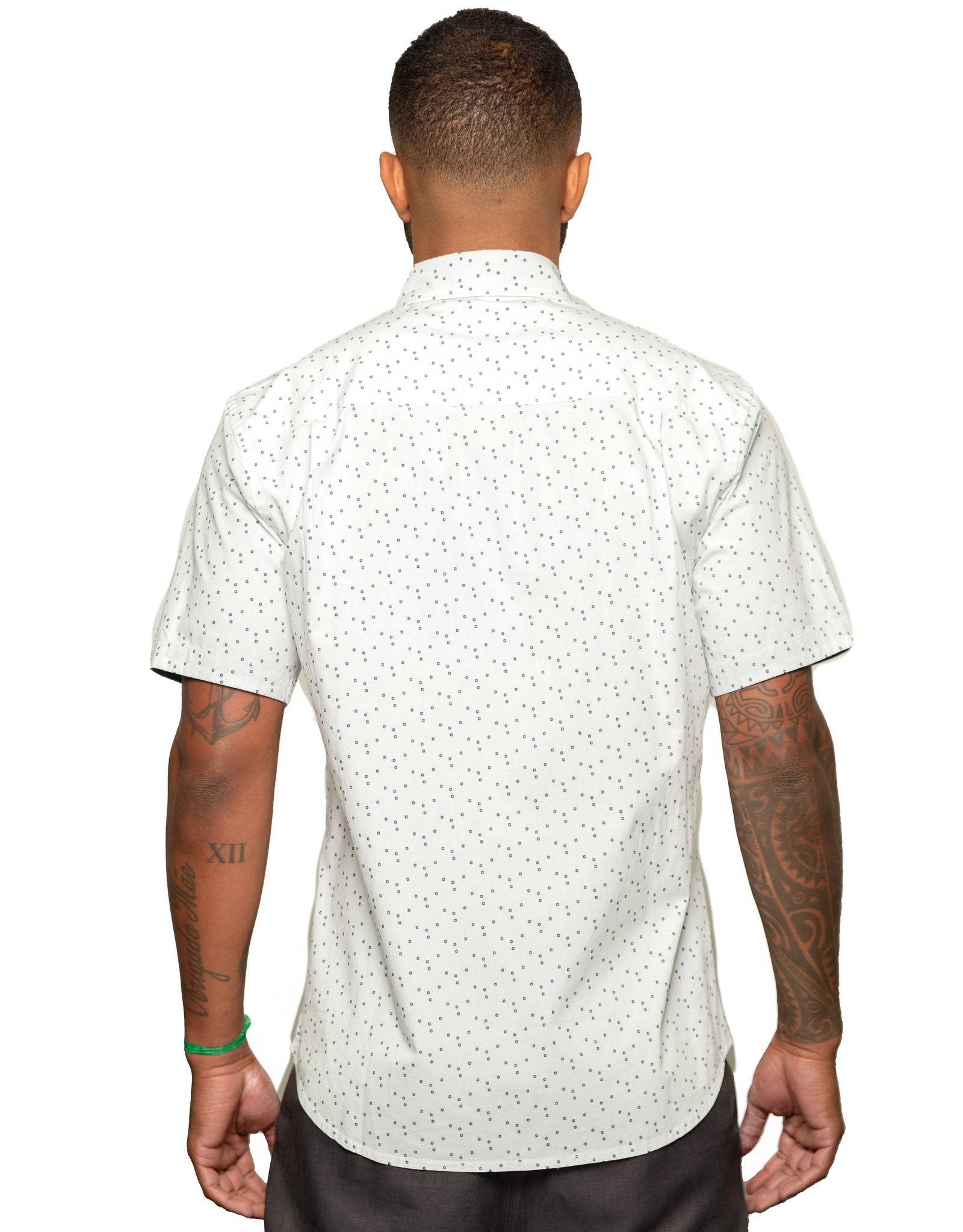 Fundamental Coast Hallow White Short Sleeve Shirt
