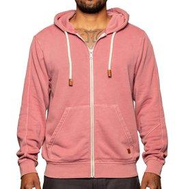 Fundamental Coast Dusty Red Full Zip Sweatshirt