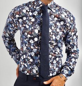 Kurt River Kurt River Dark Blue & White Floral