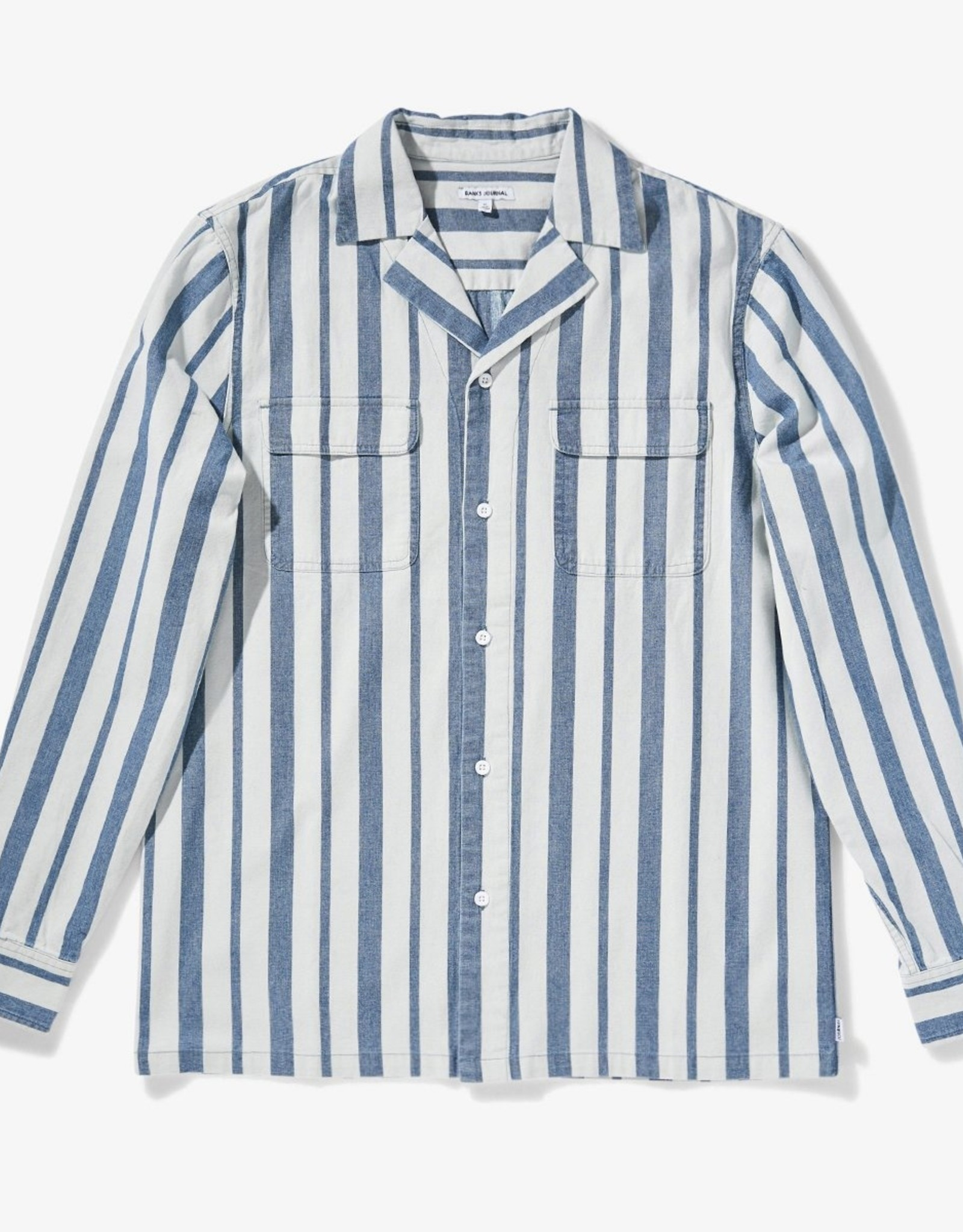 Banks Journal UNPLUG CHAMBRAY L/S WOVEN SHIRT