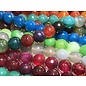 AGATE Assorted 10mm Faceted Round