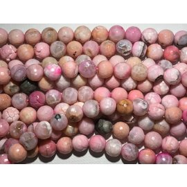 AGATE Faceted Beads Candy Pink 12mm
