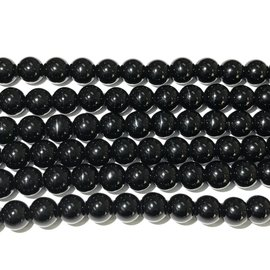 Agate Round Beads - Black - 10mm