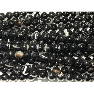 AGATE Black Natural 12mm Round