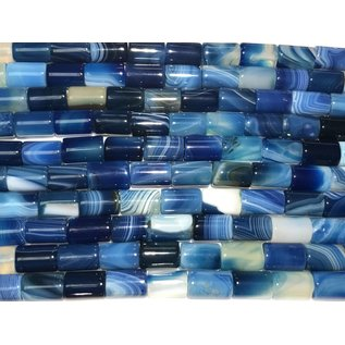 AGATE Banded Dyed Dark Blue 8x12mm Columns