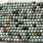 Amazonite Faceted Beads 6mm