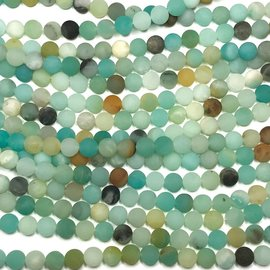 Amazonite Natural Frosted 6mm Round