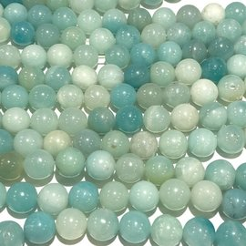 Amazonite Natural Blue 8mm Round
