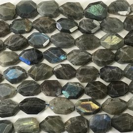 Natural Faceted LABRADORITE Nuggets 15-22mm