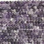 Amethyst Natural Frosted 6mm Round