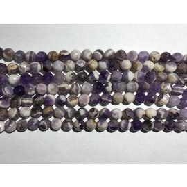 AMETHYST Natural Chevron Variety 10mm Faceted