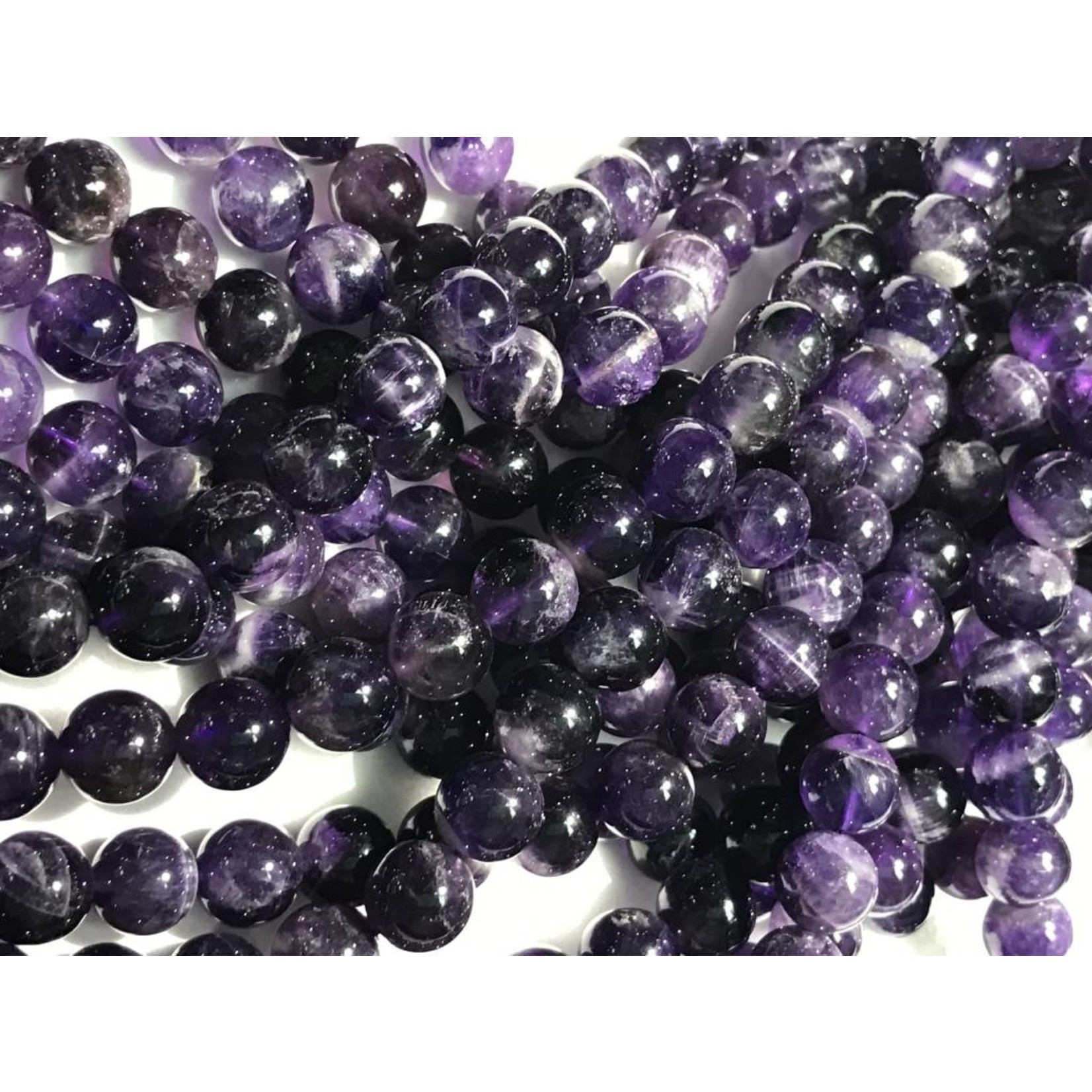 AMETHYST Grade A Natural 10mm Round