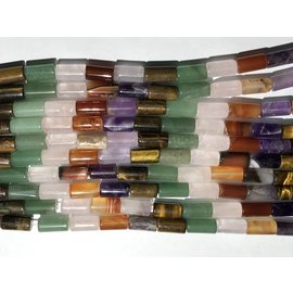 GEMSTONE Assorted Natural 16 X 8mm Column