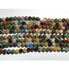 GEMSTONE Assorted 8mm Round Multi-Colour