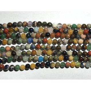 GEMSTONE Assorted 8mm Round Multi-Colour