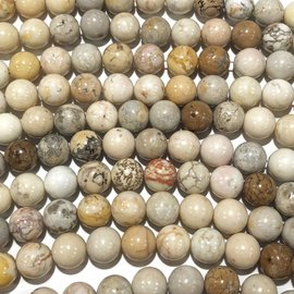Natural Magnesite Variegated 6mm Round