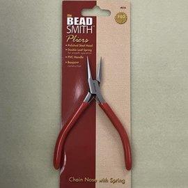 BeadSmith SlimLine Chain Nose PLIERS 120mm w/Spring