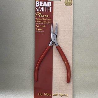 BeadSmith SlimLine Flat Nose PLIERS 120mm w/Spring