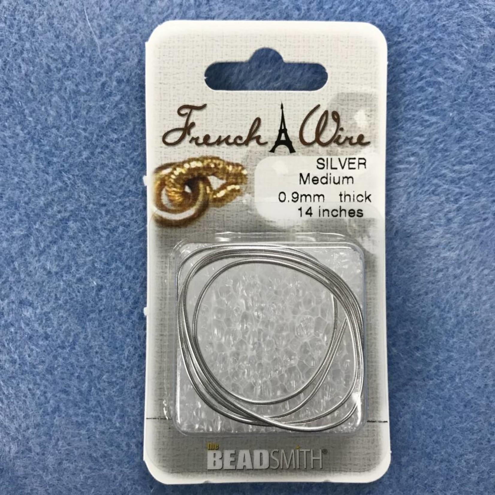 "French Wire Silver Medium 14"""