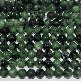 Natural Zoisite Beads 6mm Round