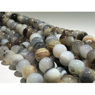 AGATE Natural 14mm Round 1/2 Strand
